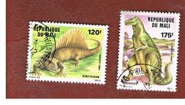 MALI - SG 1055.1056 - 1984 PREHISTORIC ANIMALS  -  USED° - Mali (1959-...)