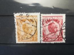 FRANCOBOLLI STAMPS POLONIA POLAND 1927 - 1928 USED JOZEF PILSUDSKI POLSKA - 1919-1939 Republik