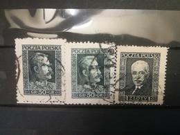 FRANCOBOLLI STAMPS POLONIA POLAND 1928 USED SERIE COMPLETA PILSUDSKI MOSCICKI POLSKA - 1919-1939 Repubblica