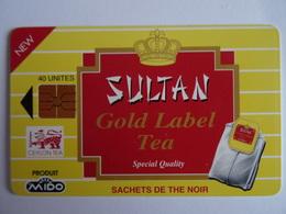 Télécarte MAROC Sultan Gold Label Tea (Ceylan Tea) 40 Unités GEM1A  AVE Phone, Used,  Excellent état Voir Scan - Maroc