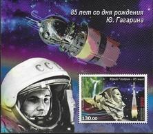 KYRGYZSTAN, 2019, MNH ,SPACE, ASTRONAUTS, GAGARIN, S/SHEET - Space