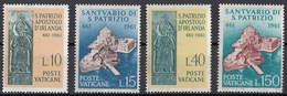 Vaticano 1961 Uf. 313/316 Santuario Di San Patrizio Irlanda Full Set MNH - Cristianesimo