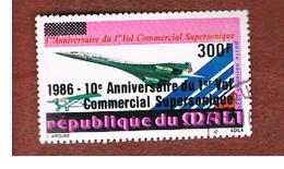 MALI - SG 1114   - 1986  10^ ANNIV. OF  CONCORDE FIRST COMMERCIAL FLIGHT  -  USED° - Mali (1959-...)
