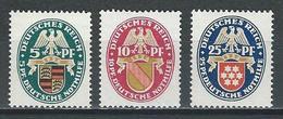 Deutsches Reich Mi 398-400 * MH - Ungebraucht