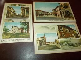 B733   3 Cartoline Piobesi Torinese Non Viaggiate Macchioline Umido Cm14x9 - Italia