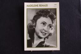 Sp-Actrice,française,1940-Madeleine Renaud, Née En 1900 à Paris (16e Arrondissement), Morte En 1994  à Neuilly-sur-Seine - Acteurs