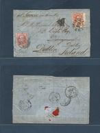 ARGENTINA. 1876 (20 Sept) Buenos Aires, Oficina Maritima - Dublin, Ireland (21 Oct), Derrymore, Dalkay. Fkd EL 5c Vermil - Argentina