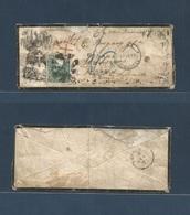 PERU. 1877 (27 Apr) Lima - Puerto Rico, Spanish Caribbe, Guayama. Via St. Thomas (May 15) BPO Exceptional Illustrated En - Peru