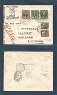 "Chile - XX. 1931 (22 May) Stgo - Germany, Hamburg (5 June) Registered Air Multifkd Env Via ""CANALZONE"" (26 May) And NY ( - Chile"