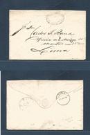 PERU. 1875 (16 Oct) Tacna - Lima (21 Oct) Official Gubernativo Envelope, Depart + Arrival Cds. VF + Scarce. - Peru