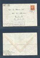 BC - Somaliland. 1948. MEF / EAF. Mogadisho  - BTE / MELF. Air Forces Airmail. Fkd Envelope. 2d Ovptd + Blue Cds + Censo - Ohne Zuordnung