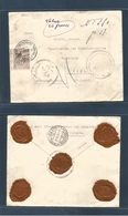 TURKEY. 1912 (20 June) Constantinople - Switzerland, Biel (29 June) Registered Insured 20 Frances Ovpd Issue Fkd Env + 5 - Türkei