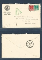 BURMA. 1941 (17 June) Rangoon - Shanghai, China (Japanese Occupation. Mission Mail. Multifkd Env + Depart Censor Green C - Burma (...-1947)