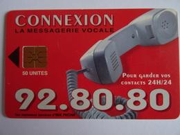 Télécarte MAROC CONNEXION, La Messagerie Vocale- 50 Unités GEM1A-AVE Phone, Used, Très Bon état Voir Scan - Marokko