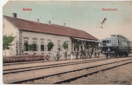 Train Station From Bethlen, Beclean, Erdély, Transilvania, Siebenbürgen ( Romania, Former Hungary) - Gares - Avec Trains