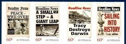 Australie Australia 3840/43 XXéme Siecle, Journal Headline News, Voile, Ouragan, Espace, World War II - Non Classificati