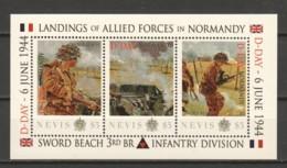 Nevis - MNH - NORMANDY D-DAY SWORD BEACH - 3RD BR INFANTRY DIVISION - Sheet 4 - 2. Weltkrieg