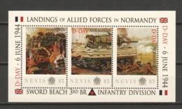 Nevis - MNH - NORMANDY D-DAY SWORD BEACH - 3RD BR INFANTRY DIVISION - Sheet 2 - 2. Weltkrieg