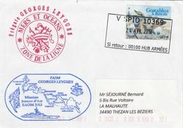 Mission JEANNE D'ARC EAOM 2013  Frégate GEORGES LEYGUES Zone De La Ligne Cachet V SPID 10369 - Posta Marittima