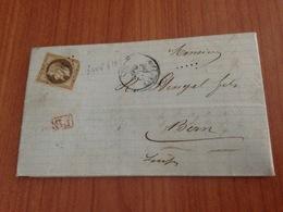SIERENTZ ( 68- Haut Rhin )   GC 3406 - Lette Ecrite 1870  (port à Ma Charge ) - Marcofilia (sobres)