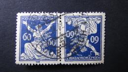 Czechoslovakia - 1920 - Mi:CS 176 - Yt:CS 169 Used - Kehrdruckpaar - Look Scan - Tschechoslowakei/CSSR