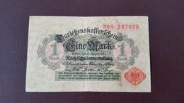 Billet Allemagne 1 Mark 12 Août 1914 N° Série 395 - 237039 - [ 2] 1871-1918 : Impero Tedesco
