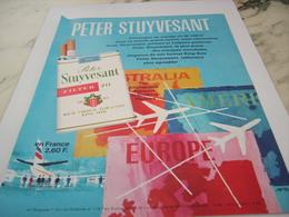 ANCIENNE PUBLICITE CIGARETTES PETER STUYVESANT 1968 - Tabac (objets Liés)