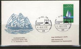 ALLEMAGNE 1972  FDC BATEAUX JO KIEL - Summer 1972: Munich