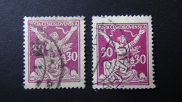 Czechoslovakia - 1920 - Mi:CS 172, Sn:CS 70, Yt:CS 164 Used -  VARIETY COLOUR - Look Scan - Tschechoslowakei/CSSR