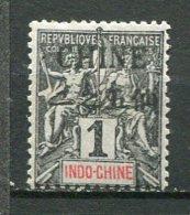 CHINE - Yt. N° 35  (*)   1c  Noir S Azuré  Cote 5 Euro  BE  2 Scans - China (1894-1922)