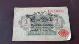 Billet Allemagne 1 Mark 12 Août 1914 N° Série 115.305951 - [ 2] 1871-1918 : Impero Tedesco
