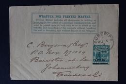 MAURITIUS WRAPPER HG E2  CUREPIPE -> JOHANNESBURG  5-8-1899 - Mauritius (...-1967)