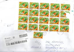 Spanien XXL002 / Massenfrankatur (2002) - 21 Marken Nach Pilzen (Checa) - 1931-Heute: 2. Rep. - ... Juan Carlos I