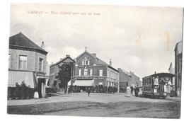 Chimay Place Leopold Avec Vue Du Tram 1909 Bon état - Chimay