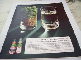 ANCIENNE PUBLICITE TETUS ET OBSTINE UNE BIERE ANCRE 1968 - Alcools