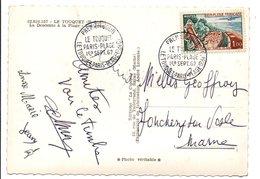 OBLITERATION FDC DE LE TOUQUET SUR CARTE...DU TOUQUET 1962 - Marcophilie (Lettres)