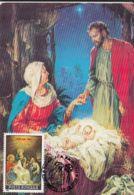 RELIGIOUS PAINTINGS, JESUS' BIRTH, CHRISTMAS, CM, MAXICARD, CARTES MAXIMUM, OBLIT FDC, 1992, ROMANIA - Paintings