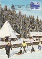 TOURISM, POIANA BRASOV SURA DACILOR RESTAURANT, CM, MAXICARD, CARTES MAXIMUM, 1995, ROMANIA - Hotel- & Gaststättengewerbe