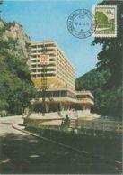 TOURISM, BAILE HERCULANE ROMAN HOTEL, CM, MAXICARD, CARTES MAXIMUM, 1992, ROMANIA - Hotel- & Gaststättengewerbe