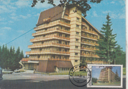 TOURISM, PREDEAL CIOPLEA HOTEL, CM, MAXICARD, CARTES MAXIMUM, 1983, ROMANIA - Hotel- & Gaststättengewerbe