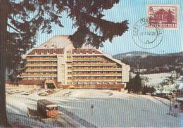 TOURISM, PREDEAL HORIZON HOTEL, BUSS, CAR, CM, MAXICARD, CARTES MAXIMUM, 1992, ROMANIA - Hotel- & Gaststättengewerbe