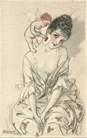 Ragazza Che Si Fa Bella, Riproduzione Da Orig., Reproduction, Illustrazione, (F28) - Donne