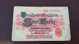 Billet Allemagne 2 Mark 12 Août 1914 N° Série 156 - 797558 - [ 2] 1871-1918 : Impero Tedesco