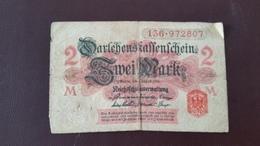 Billet Allemagne 2 Mark 12 Août 1914 N° Série 136 - 972807 - [ 2] 1871-1918 : German Empire