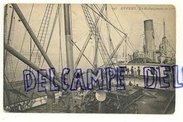 Anvers. Déchargement De Grains. Carte Animée. 1908 - Antwerpen