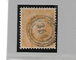 Nor002 / NORWEGEN - Oskar 2 Sk. 1857 Mit Nr.-Stempel, Zentrisch - Gebraucht