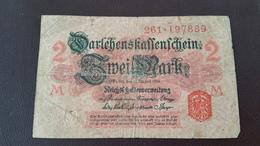 Billet Allemagne 2 Mark 12 Août 1914 N° Série 261 - 197889 - [ 2] 1871-1918 : Impero Tedesco