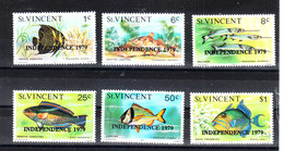 """St. Vincent   - 1979. Pesci Barriera Corallina. Coral Reef Fish. Overprinted """" Independence """" MNH - Pesci"""