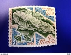 COMORES  1 V Neuf ** MNH Aérien PA 67 Carte COMOROS KOMOREN - Isla Comoro (1950-1975)