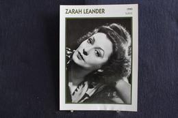 Sp-Actrice,chanteuse, Suédoise,1940 - Zarah Leander, Née à Karlstad (Suède) En 1907, Morte à Stockholm (Suède) En 1981. - Acteurs